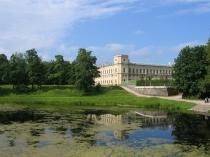 Вид на дворец в Гатчине