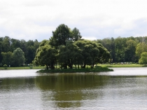 Вид на остров в Царицыно