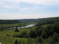 Вид на реку Угру из деревни Никола-Ленивец