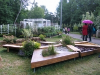 Фестиваль «Сады и люди» 2014, сад здоровья «Сенсорный сад-конструктор», автор Леонова Дина, куратор и идеолог Никитина Катерина